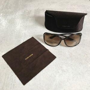 Tom Ford Raquel 63mm Oversized Sunglasses